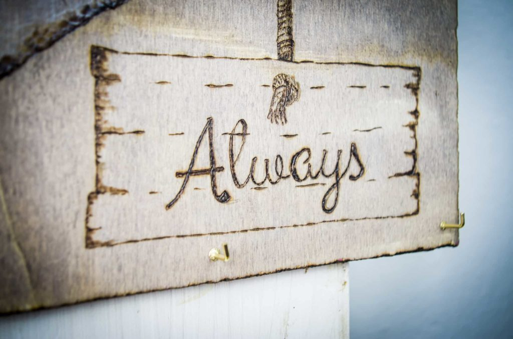 wood burning letter design sign